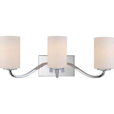 3-Light Polished Nickel Bath Light