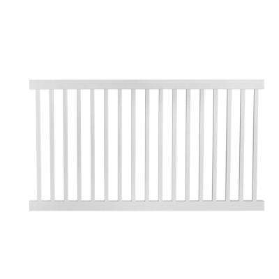 Neptune 4 ft. H x 8 ft. W White Vinyl Pool Fence Panel