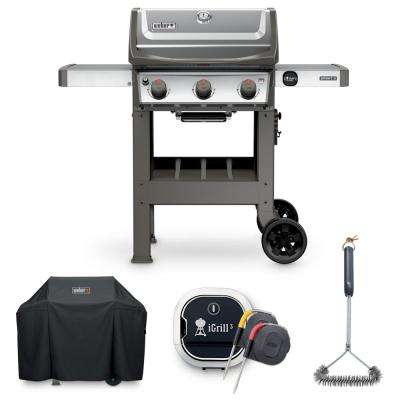 Spirit II S-310 Liquid Propane Grill Combo with Grill Brush, Cover, and iGrill 3 Thermometer