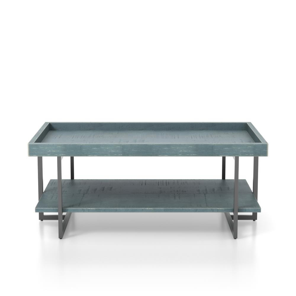 Triblisi 18.5 in. H Blue and Black Coffee Table