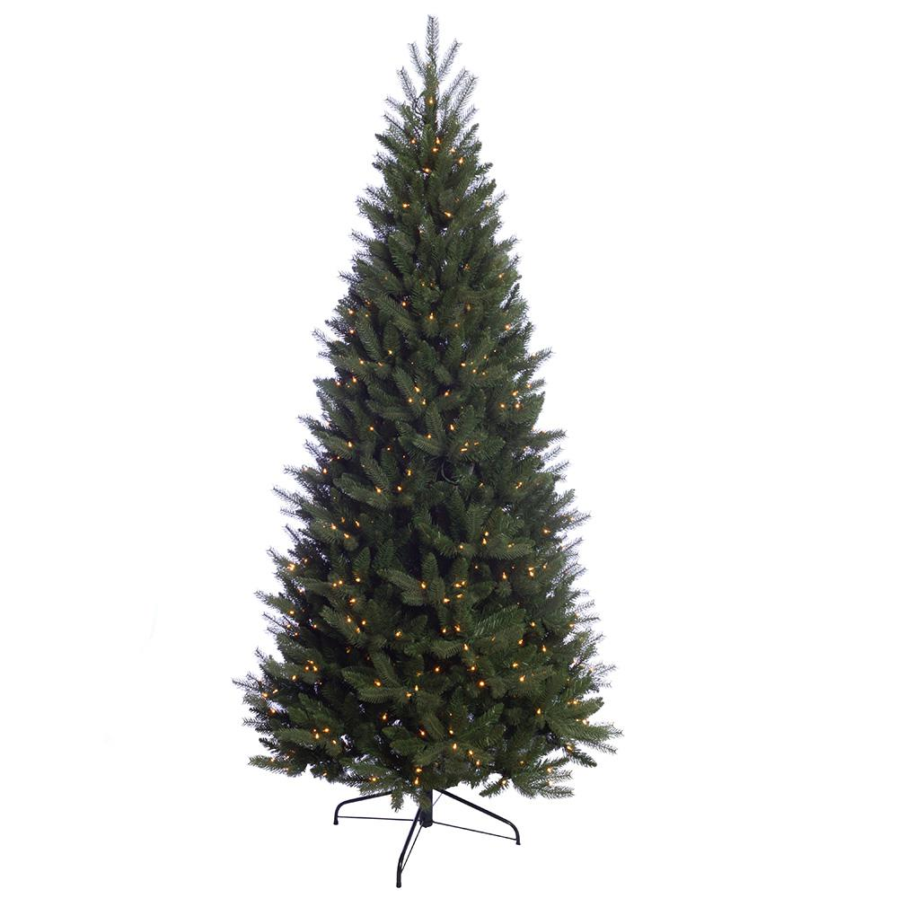 Pre Lit Incandescent Douglas Fir Premier Slim Artificial Christmas Tree With 500 Ul Clear Lights C5 The Home Depot