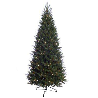 7.5 ft. Pre-Lit Incandescent Douglas Fir Premier Slim Artificial Christmas Tree with 500 UL Clear Lights