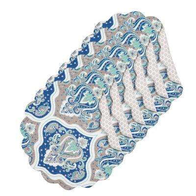 Renee Round Blue Placemat (Set of 6)