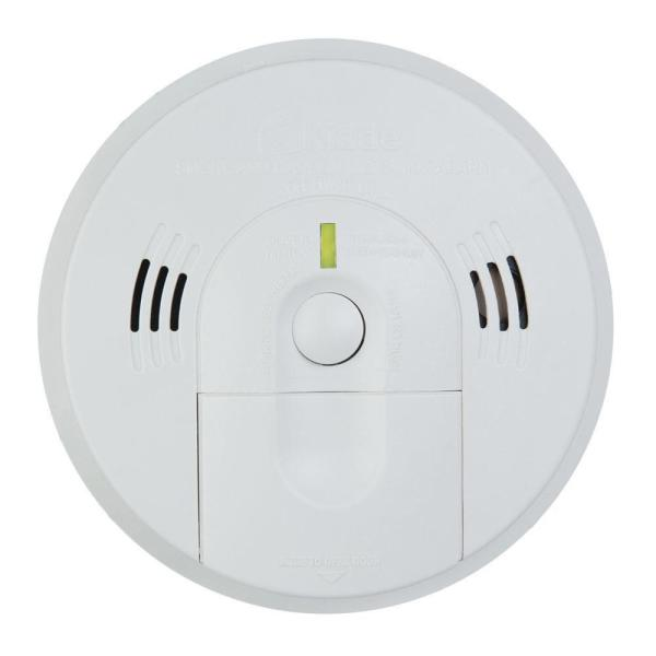 Battery Operated Combination Smoke and Carbon Monoxide Detector with Voice Alert and Intelligent Hazard Sensing