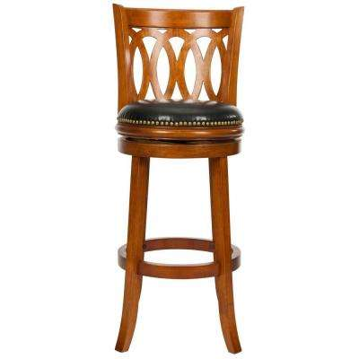 Baldwin 29 in. Dark Oak Swivel Cushioned Bar Stool