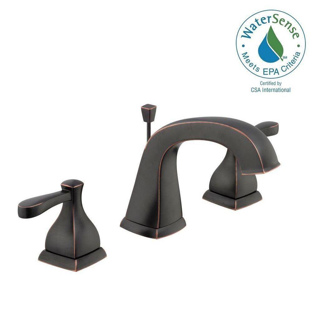 Milner 8 in. Widespread 2-Handle Bathroom Faucet in Bronze