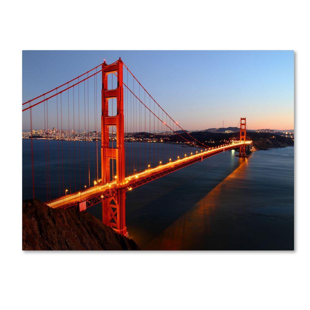 14 in. x 19 in. Golden Gate SF Canvas Art