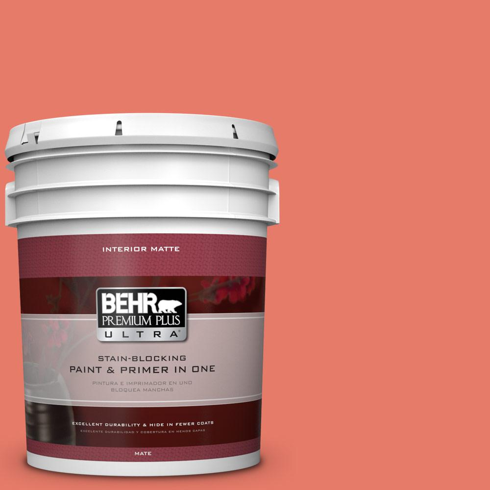 BEHR Premium Plus Ultra 5 gal. #P180-5 Watermelon Slice Matte Interior Paint