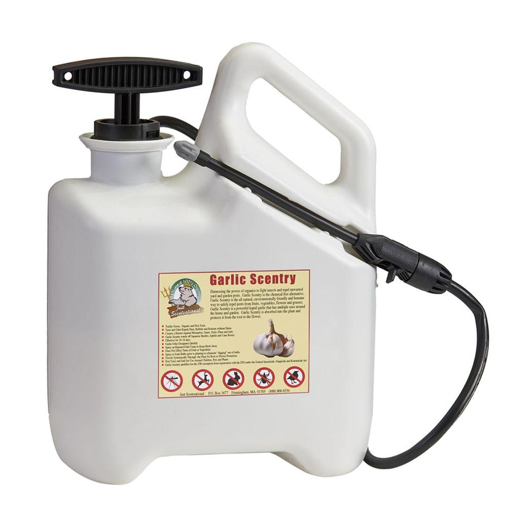 Just Scentsational 1 gal. Garlic Scentry Liquid Repellent Pre-Loaded in 1 gal. Sprayer
