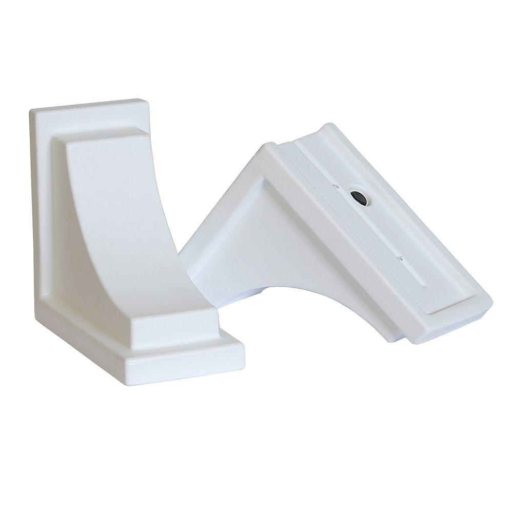 Nantucket Decorative Brackets in White (2-Pack)