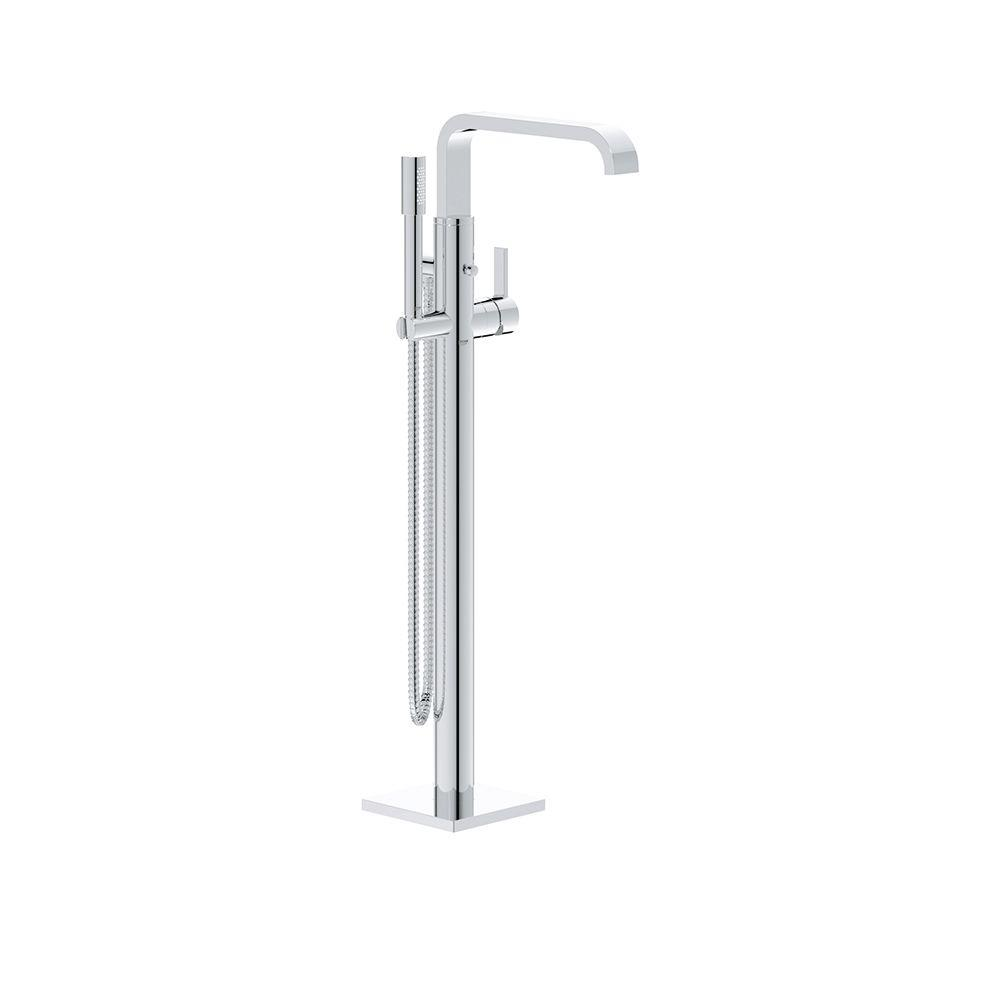 Allure Single-Handle Floor-Mounted Tub Filler in StarLight Chrome