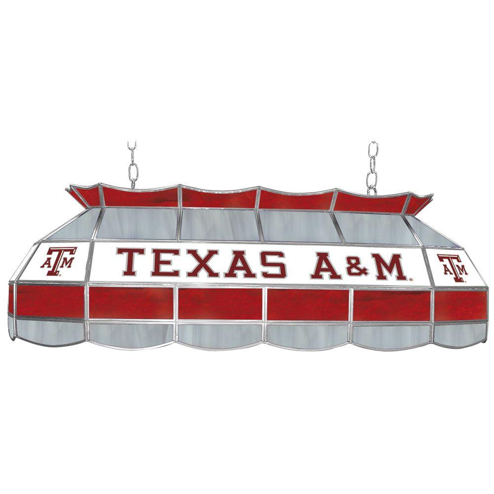 Trademark Texas A&M University 3-Light Gold Tiffany Lamp