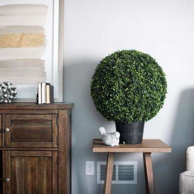20 in. Boxwood Ball Everyday Topiary in Pot (UV)