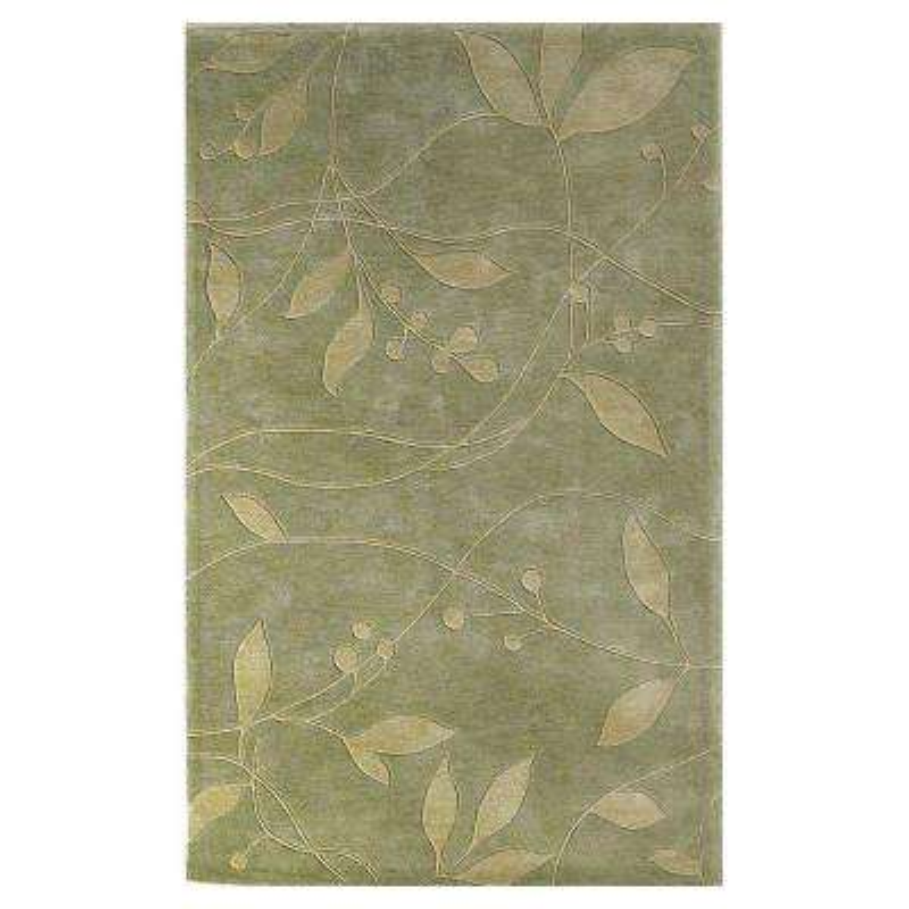 Simple Leaf Celadon 5 ft. x 8 ft. Area Rug