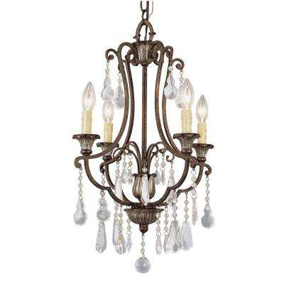 Cabernet Collection 4-Light Antique Bronze Chandelier