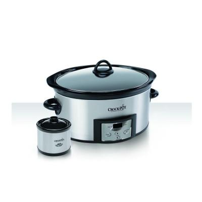 Cook and Carry 6 Qt. Programmable Stainless Steel Slow Cooker