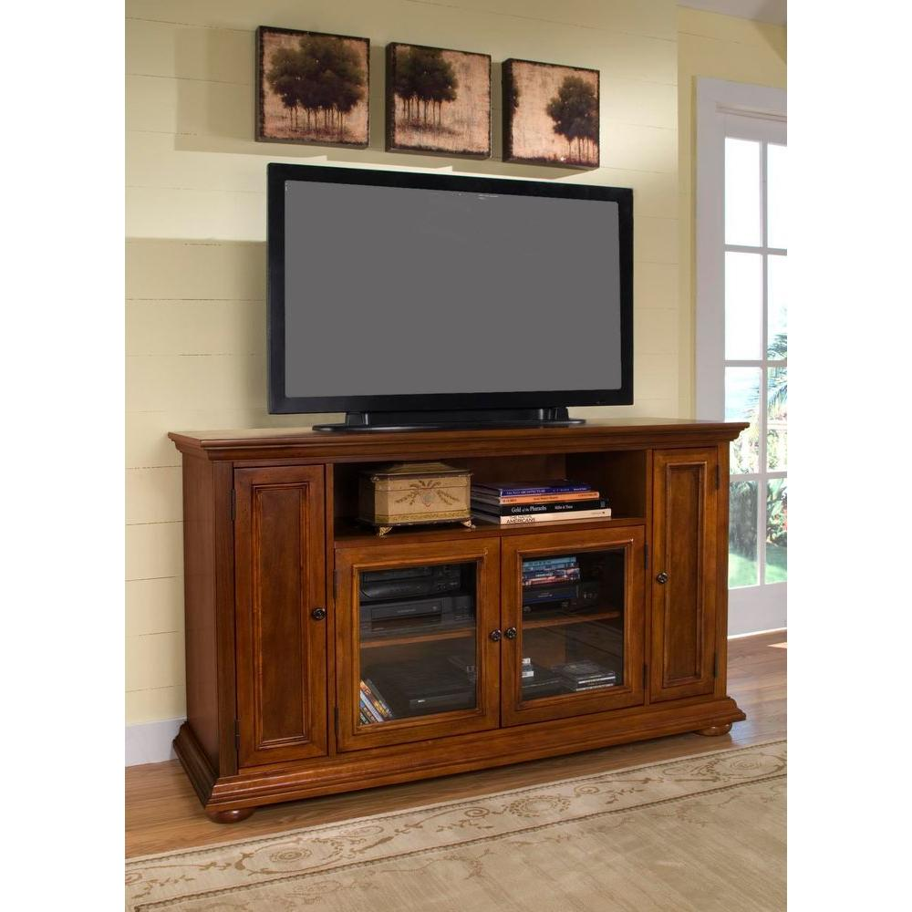 Home Styles Homestead Distressed Warm Oak TV Credenza