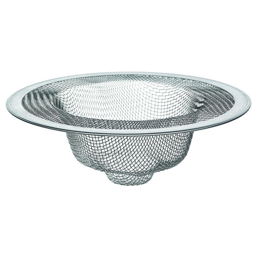 4-1/2 in. Mesh Kitchen Sink Strainer in Stainless-Steel-88822 ...