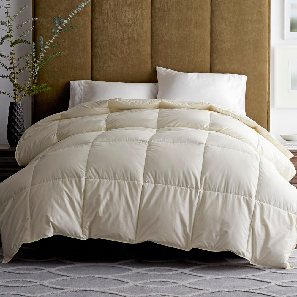 The Company Store Legends Luxury Geneva Super Light Warmth Ivory King Down Oversized Comforter
