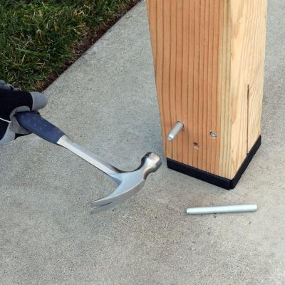 CPTZ ZMAX Galvanized Concealed Post Base for 6x6 Nominal Lumber