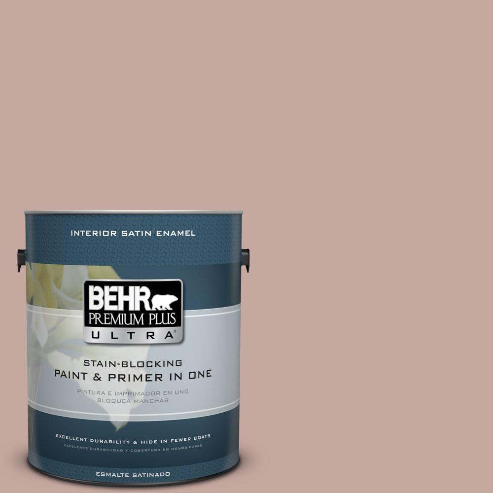 BEHR Premium Plus Ultra Home Decorators Collection 1-gal. #HDC-NT-06 Patchwork Pink Satin Enamel Interior Paint