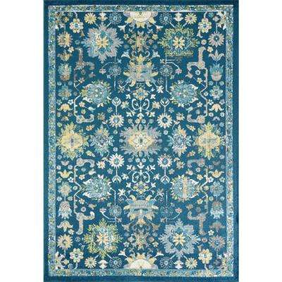 Skyline Teal 8 ft. x 10 ft. Traditional Area Rug