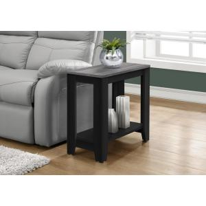 Black and Grey End Table