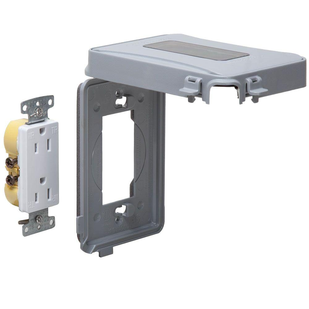 1-Gang Horizontal or Vertical Mount Weatherproof Expandable Low Profile While in