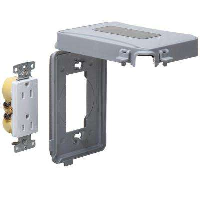 1-Gang Horizontal or Vertical Mount Weatherproof Expandable Low Profile While in Use Cover/Duplex Combo