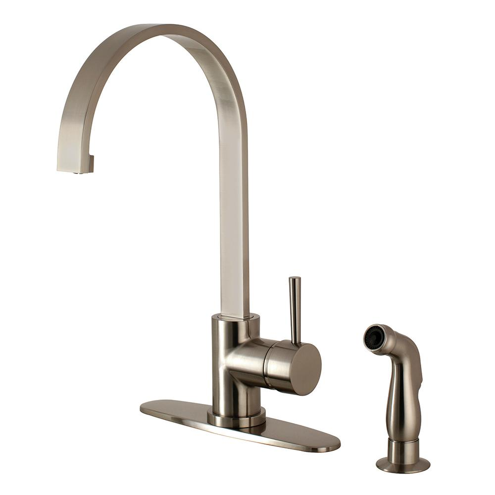 Kingston Brass Victorian Porcelain 2-Handle Standard Kitchen Faucet ...