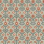 Aya Beige Floral Paper Strippable Roll (Covers 56.4 sq. ft.)