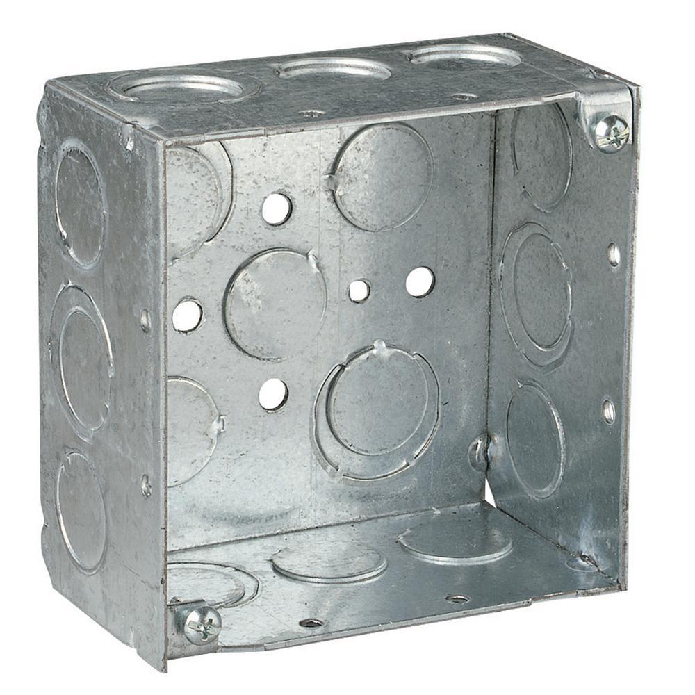 4 in. 30.3 cu. in. Metallic Square Box