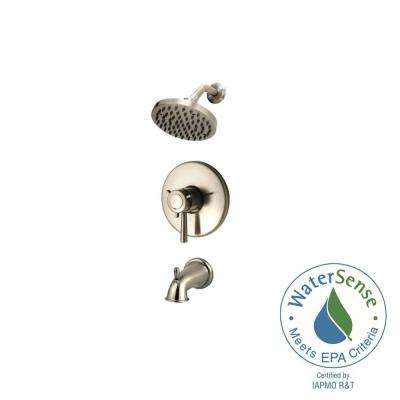 Thermostatic Shower Systems 1-Handle Tub and Shower Faucet Trim Kit in Brushed Nickel (Valve Not Included)