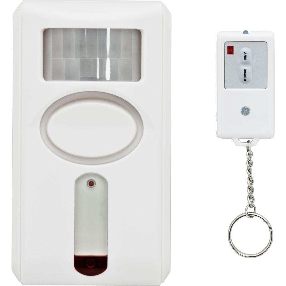 Motion Detector Alarm >> Ge Personal Security Motion Sensing Alarm With Keychain Remote 51207