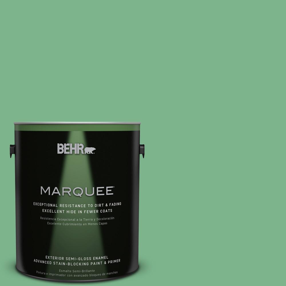 1-gal. #460D-5 Tree Fern Semi-Gloss Enamel Exterior Paint