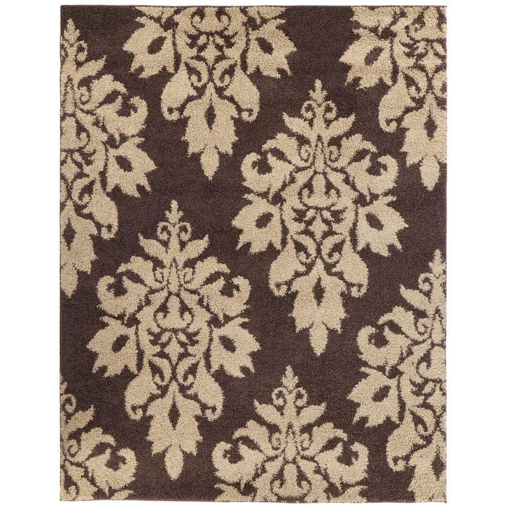 home decorators collection meadow damask dark brown 9 ft
