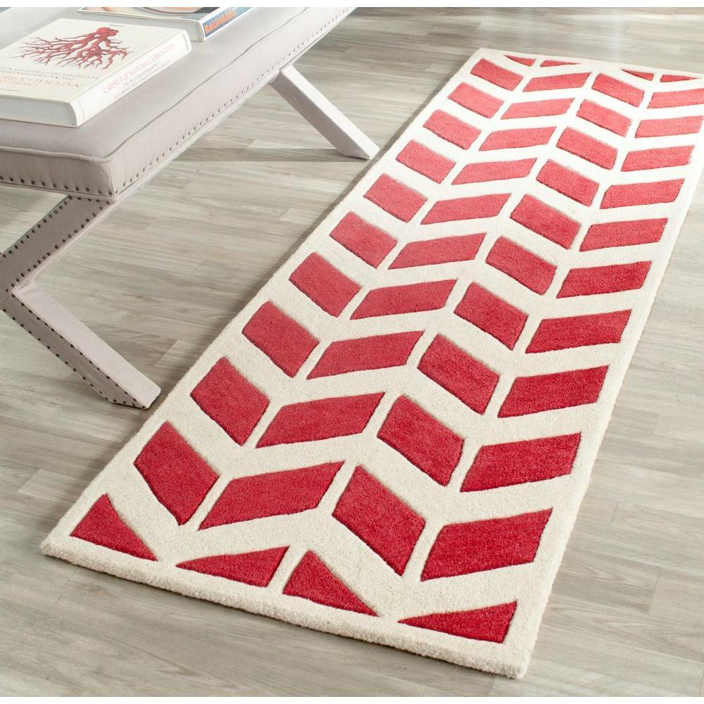 Chatham Red/Ivory 2 ft. x 7 ft. Runner Rug