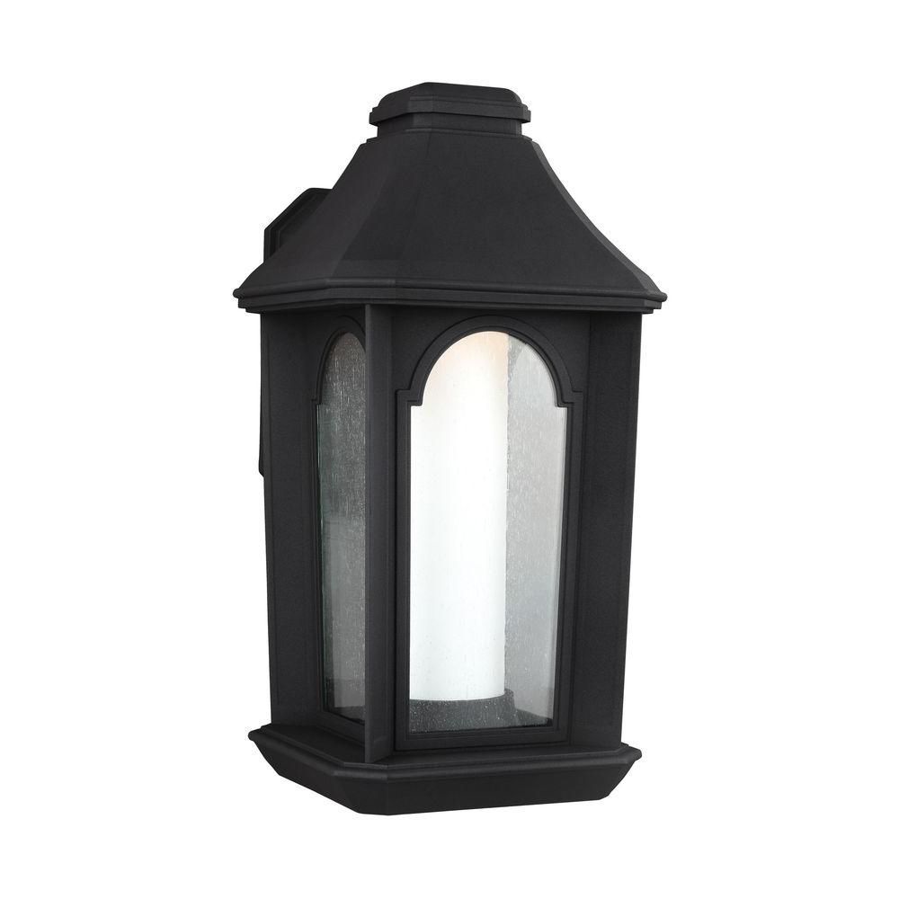 Feiss Ellerbee Textured Black Outdoor LED Wall Lantern