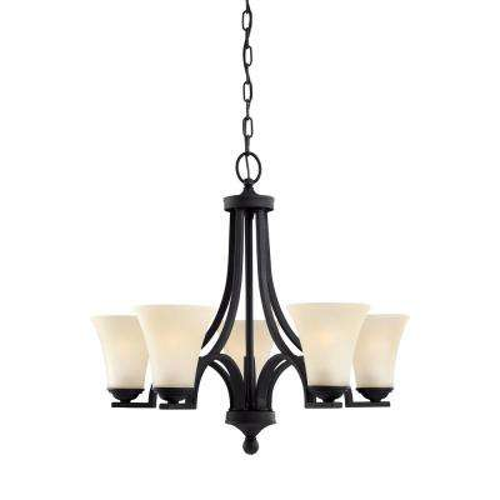 Somerton 5-Light Blacksmith Chandelier with LED Bulbs