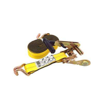 27 ft. x 2 in. Side Loading J-Hook Ratchet Tie-Down