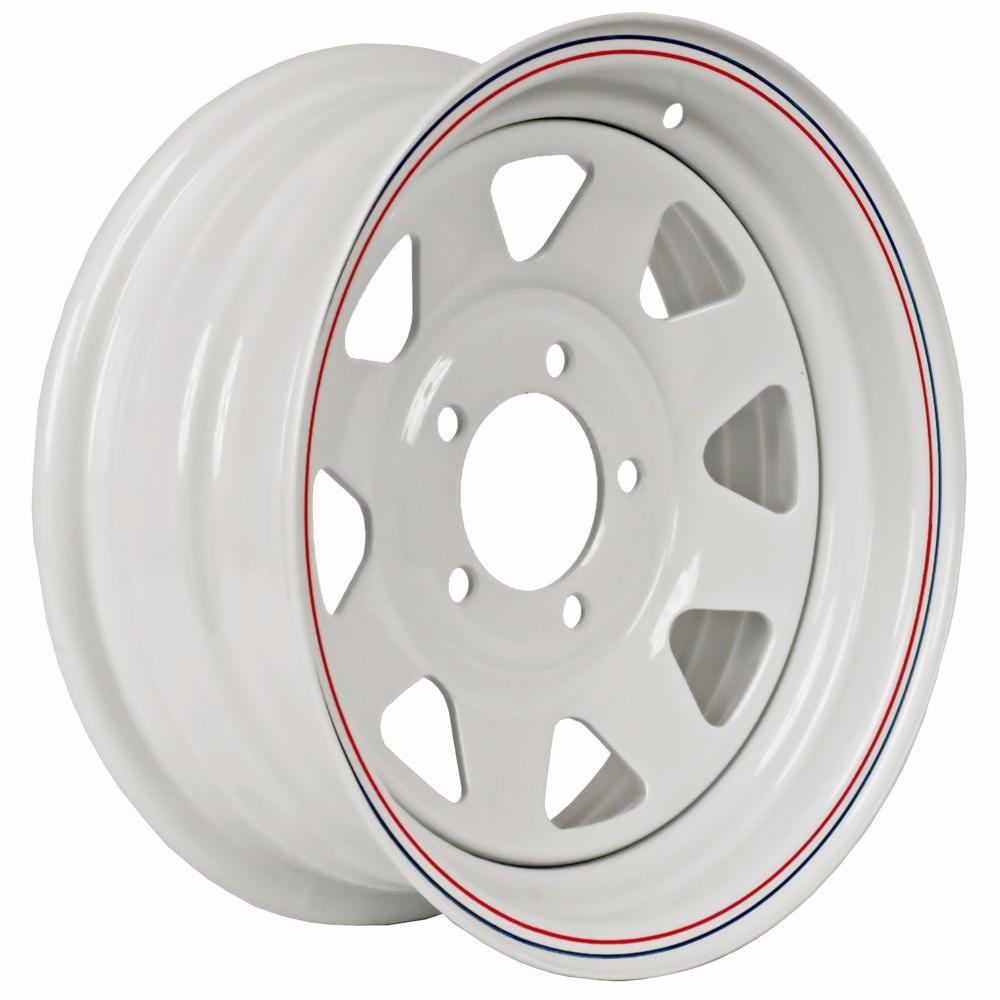 15x5 5-Hole 15 in. Steel Custom Spoke Trailer Wheel/Rim