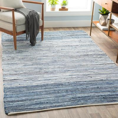 Thorburn Bright Blue 5 ft. x 8 ft. Indoor Area Rug