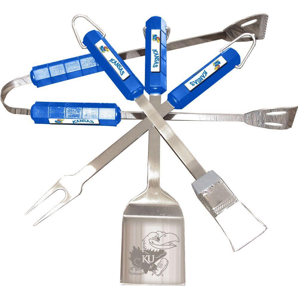 NCAA Kansas Jayhawks 4-Piece Grill Tool Set