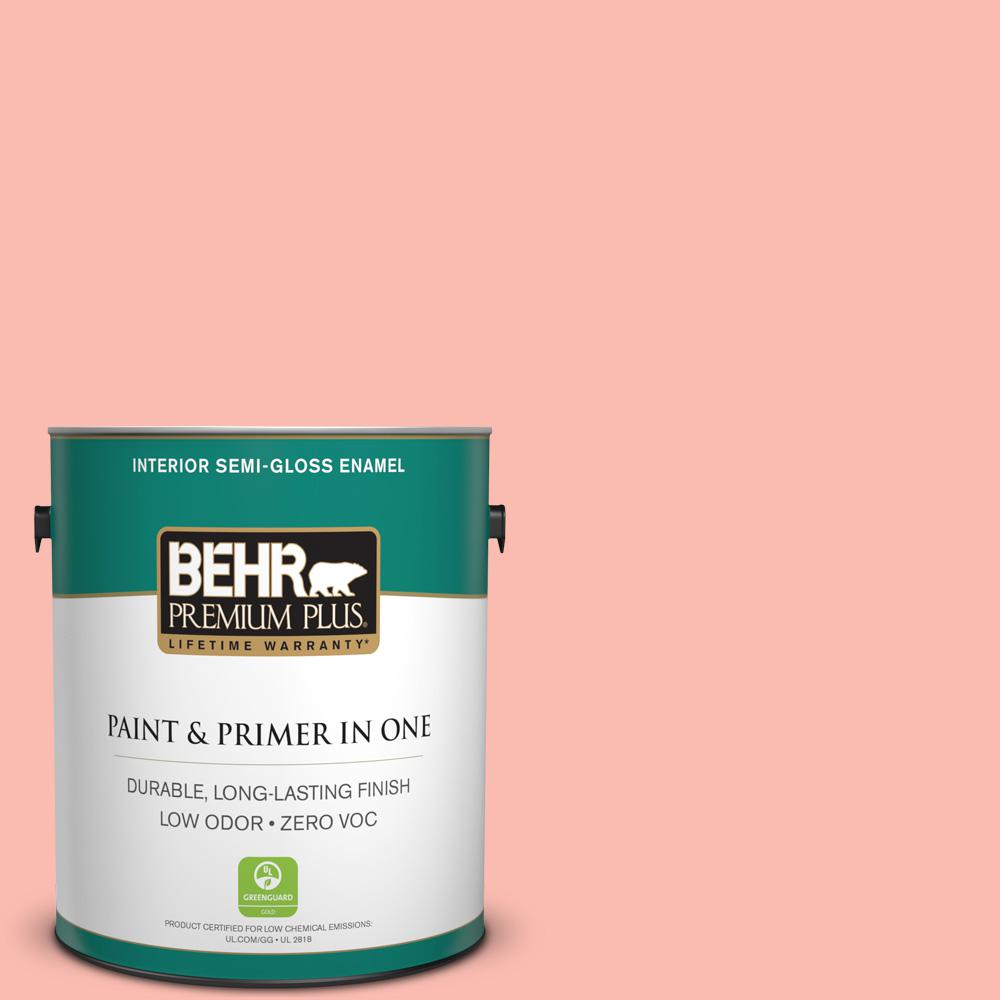 1-gal. #190C-3 Sweet Nectar Zero VOC Semi-Gloss Enamel Interior Paint