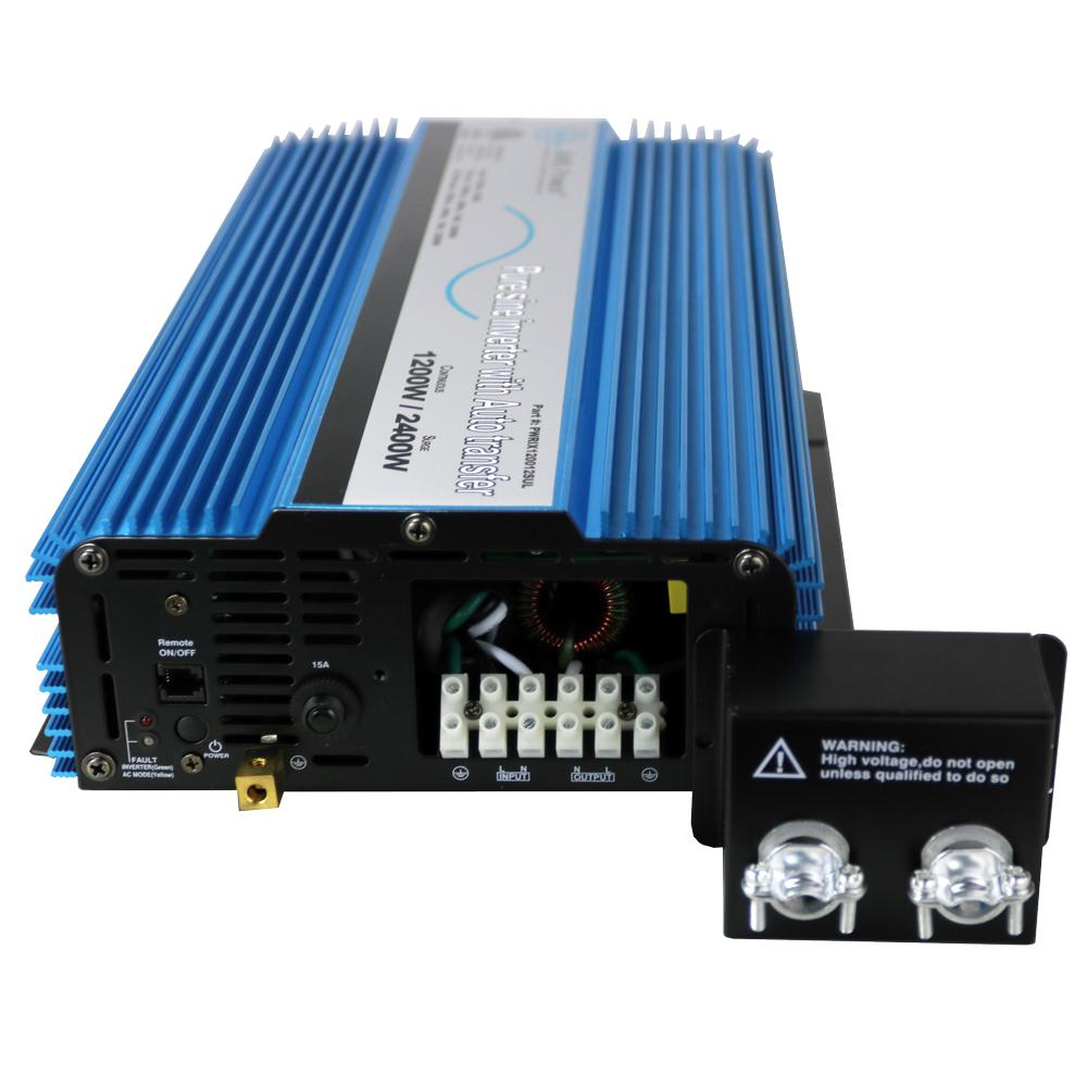 1,200-Watt Pure Sine Inverter with Automatic Transfer Switch 12-Volt DC to  120-Volt AC ETL Listed to UL 458