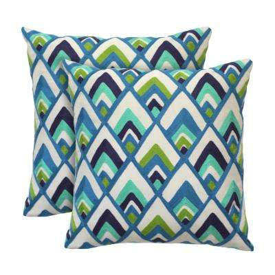 Sylvester 18 in. x 18 in. Peacock Decorative Pillow (2-Pack)