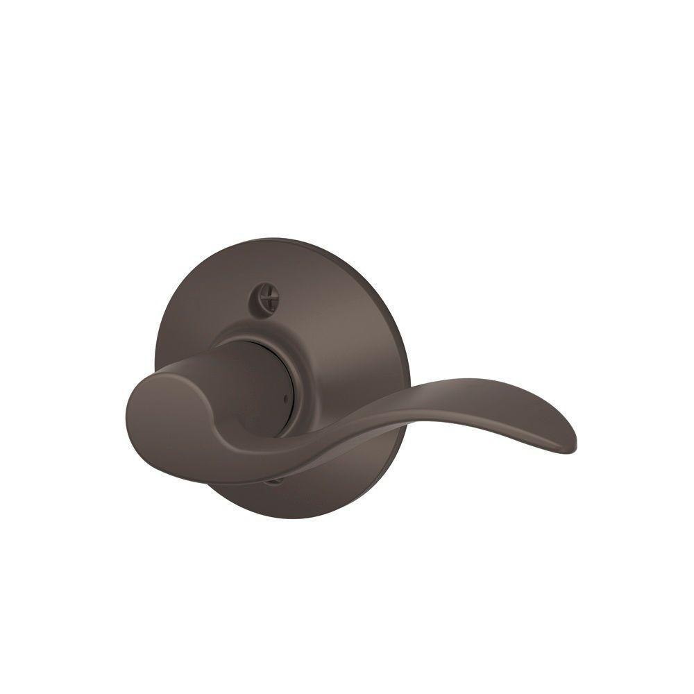 Schlage Accent Oil Rubbed Bronze Right Handed Dummy Door Lever  sc 1 st  The Home Depot & Schlage Accent Oil Rubbed Bronze Right Handed Dummy Door Lever-F170 ...