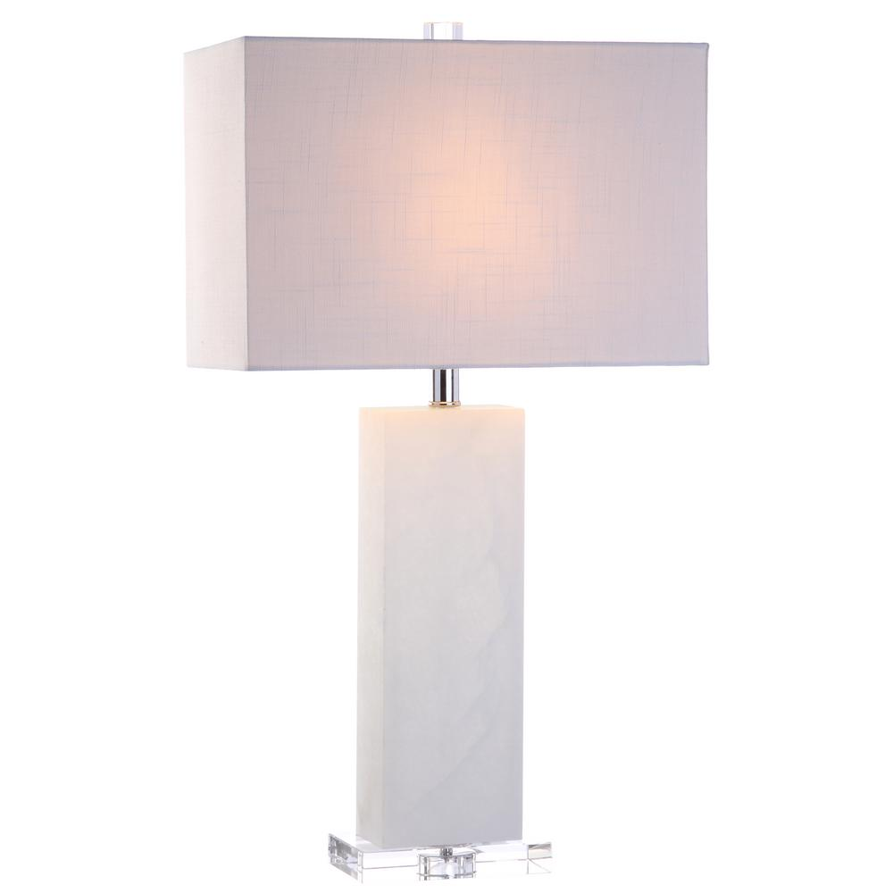 Jonathan Y Tiggie 27 In H White Alabaster Table Lamp