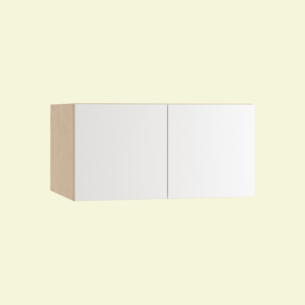 Rno Ready To Emble 30 X 15 12 In Wall Cabinet With 2 Soft Close Doors Polar White