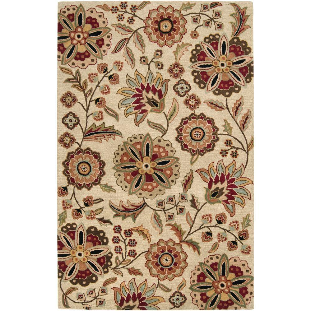 Sarah Ivory 6 ft. x 9 ft. Area Rug
